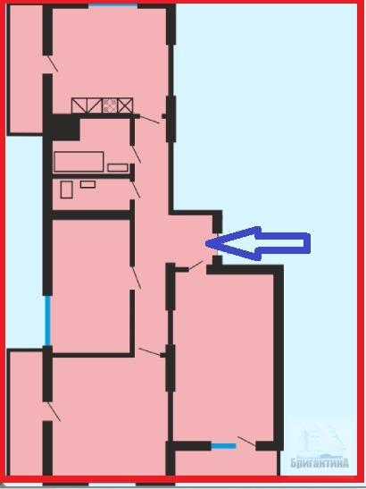 Продажа 3-комнатной новостройки, Самара, Антонова-Овсеенко улица,  дом 63