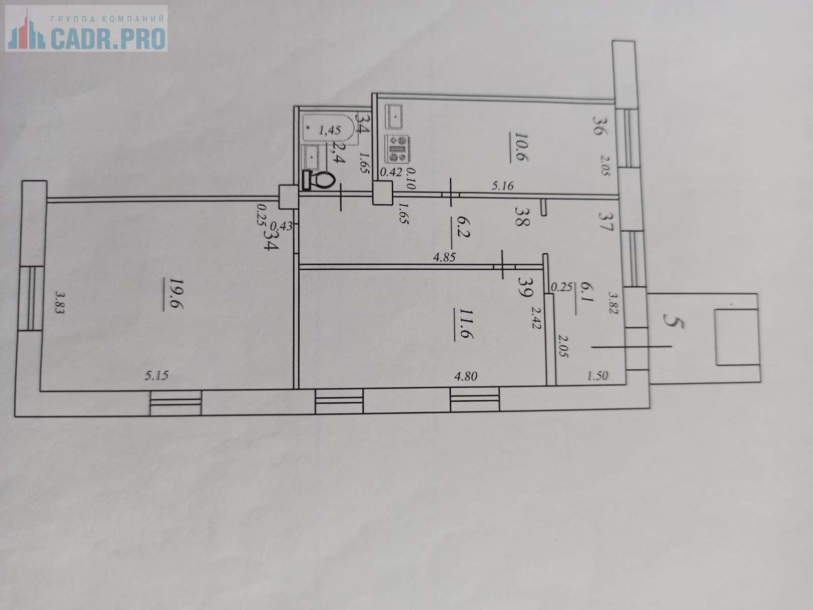 Продажа 2-комнатной квартиры, Самара, Авроры улица,  дом 3